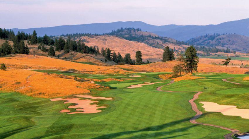 hole 1 at predator ridge golf resort -  predator course
