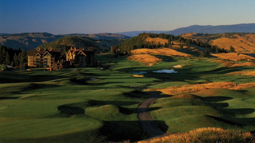 hole 9 at predator ridge golf resort -  predator course