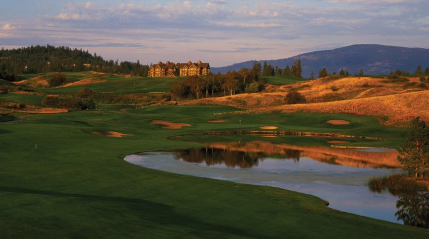 hole 14 at predator ridge golf resort -  predator course