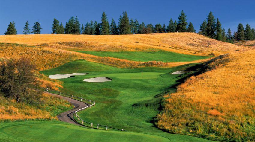 hole 17 at predator ridge golf resort -  predator course