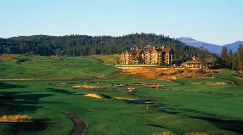 hole 18 at predator ridge golf resort -  predator course