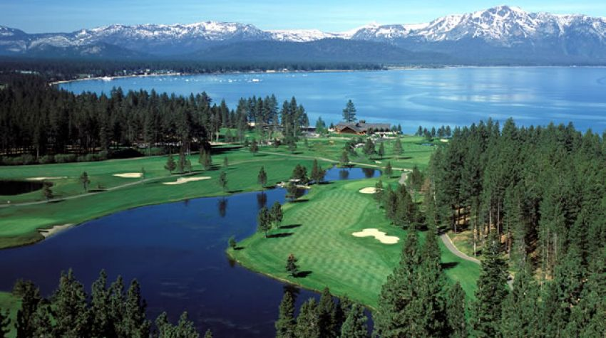 Edgewood Tahoe Golf Course Arial 14th hole