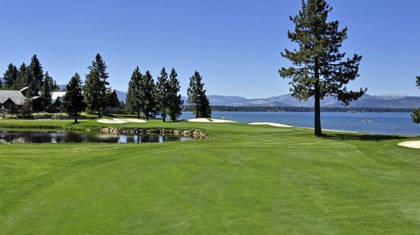 Edgewood Tahoe Golf Course 18th fairway