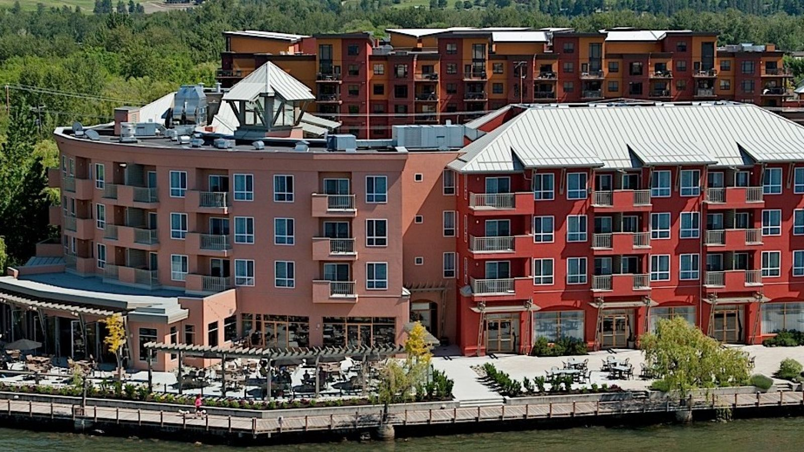 Manteo Resort Kelowna view from the Lake Okanagan
