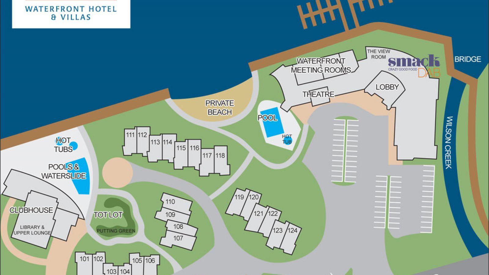 Site map for Manteo Resort