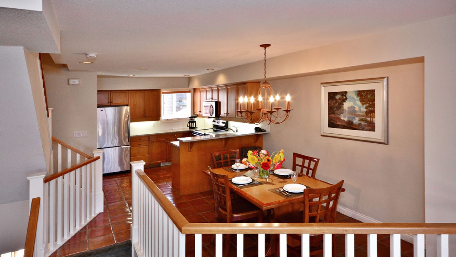 Two Bedroom Villa Dining Room Kitchen (Garden Side) at Manteo