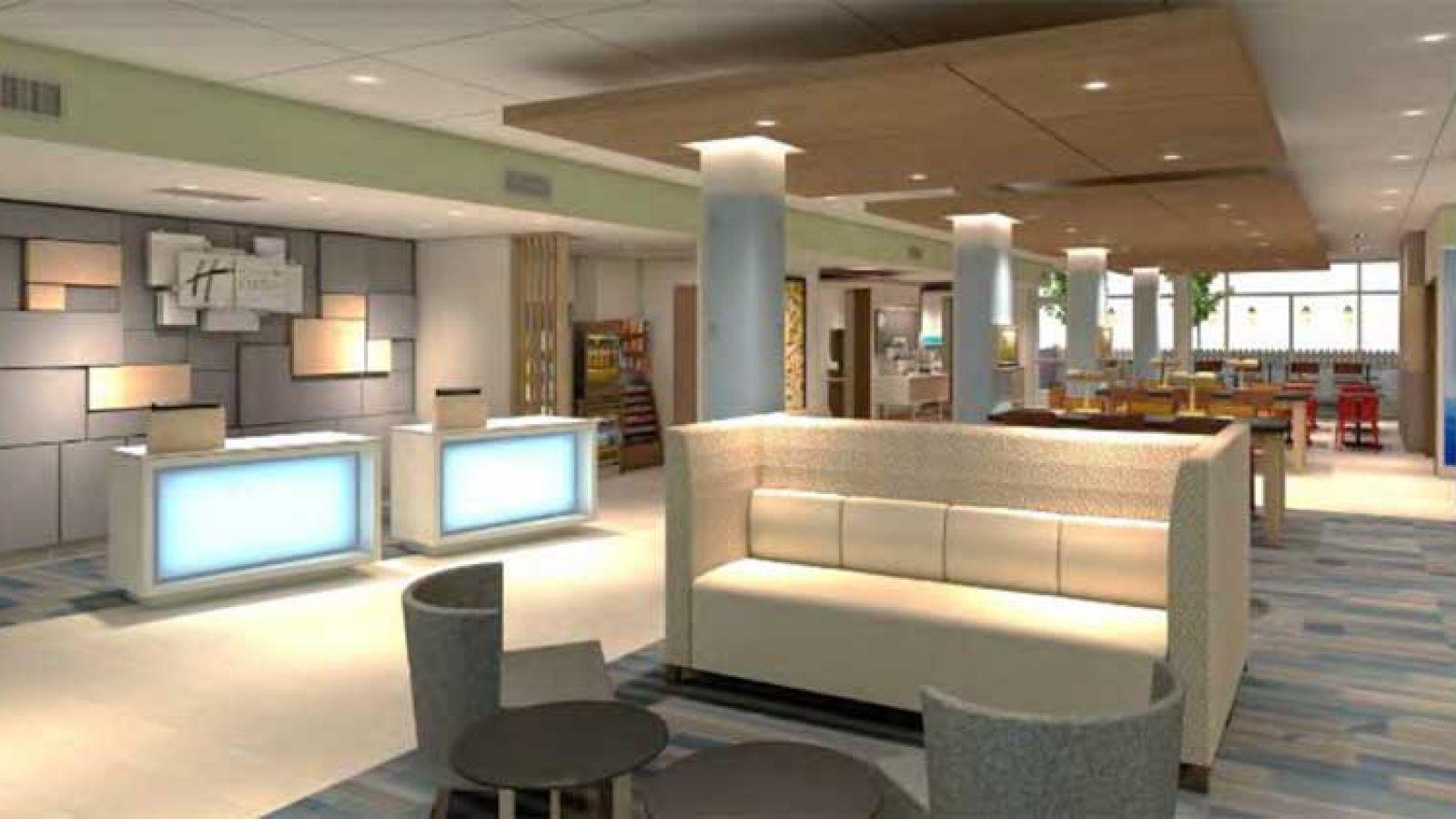 New Holiday Inn Express Kelowna - lobby area