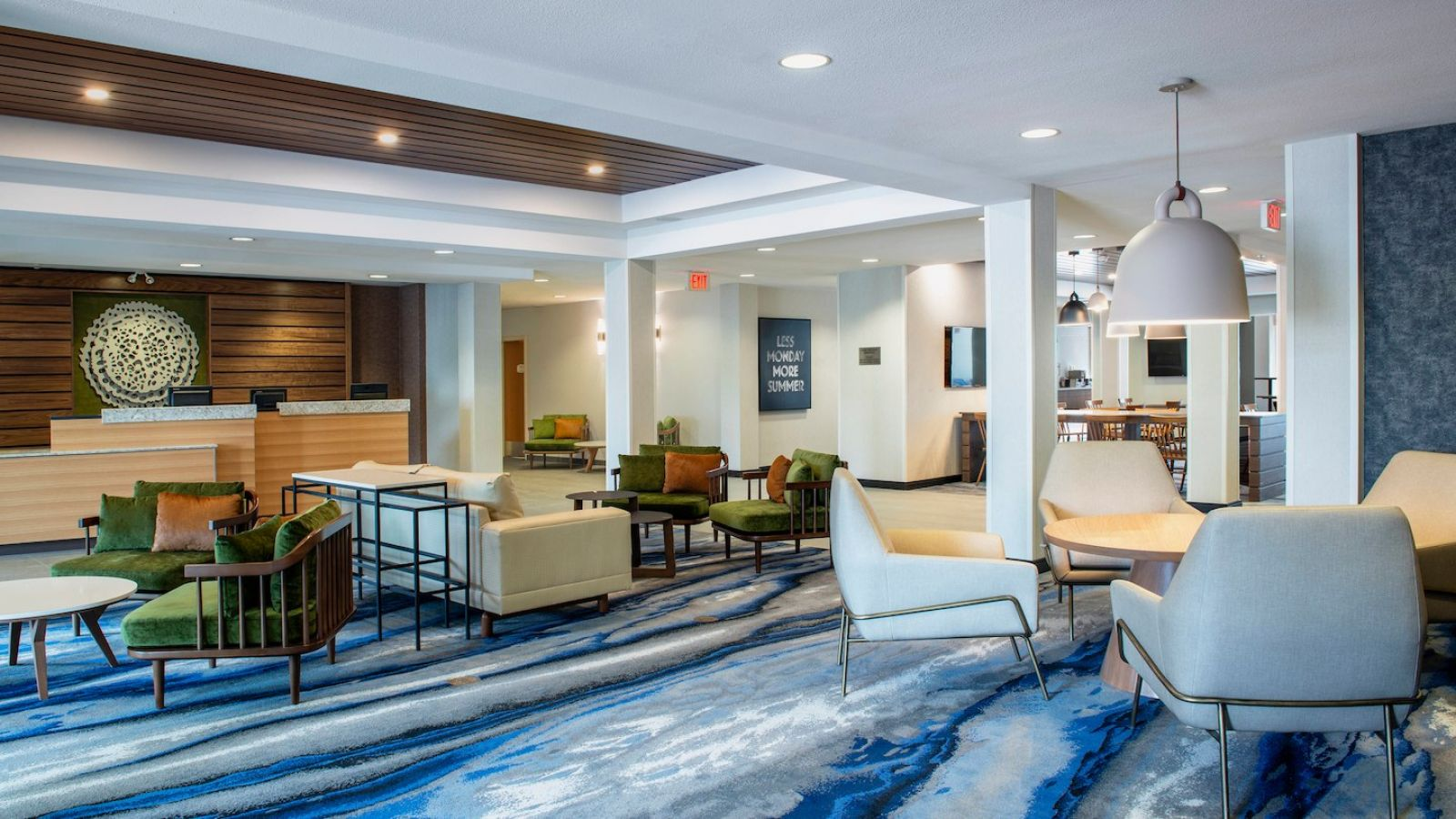 Welcome to our hotel lobby, the perfect multi-functional space to relax and meet with friends and family.