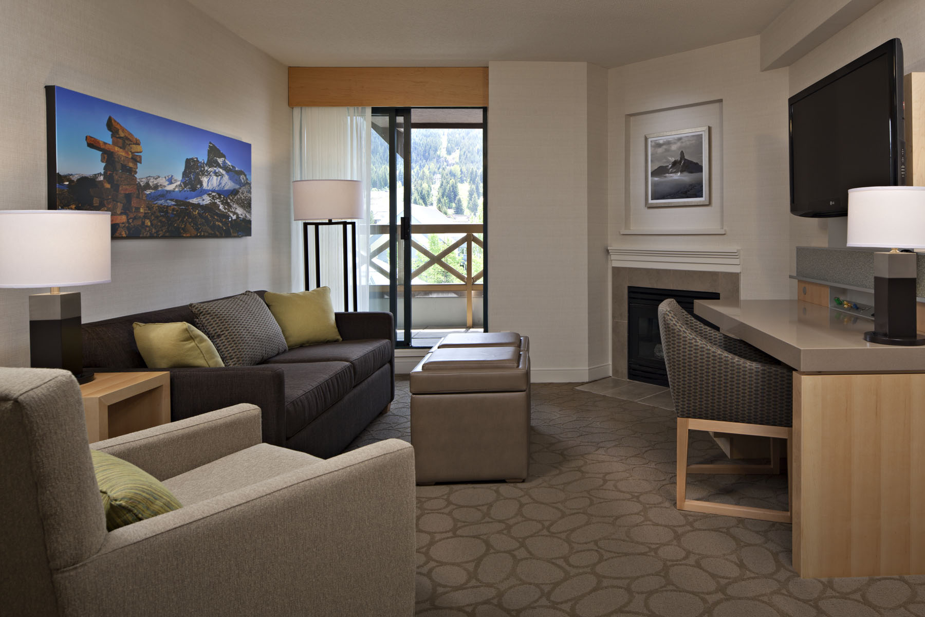 Delta whistler village suites is a great choice for a golf for Sitting room suites