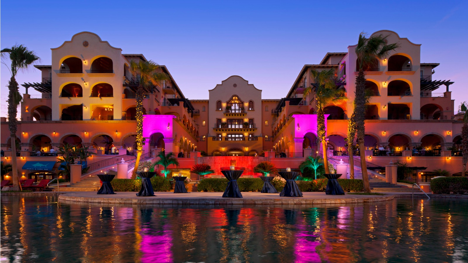 Evening and sunset at Sheraton Hacienda del Mar Golf & Spa Resort